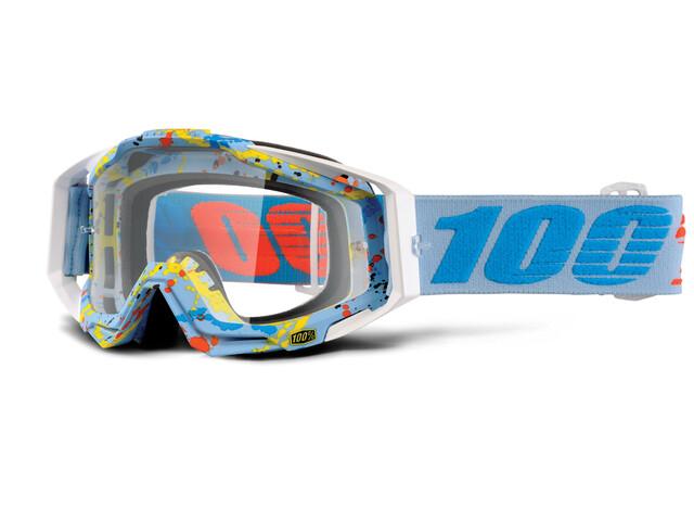 100% Racecraft Anti Fog Clear - Masque - turquoise/Bleu pétrole